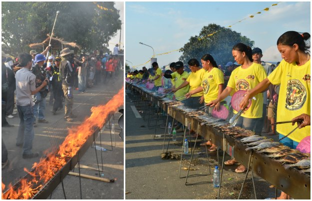 Bayambang, Pangasinan recorded the longest barbecue in the world, recognized by Guinness World Record in 2014