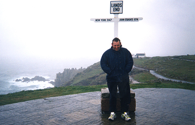 Fastest journey from Land's End to John-O'-Groats on foot (male)