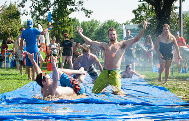 Longest distance travelled on a slip and slide in one hour