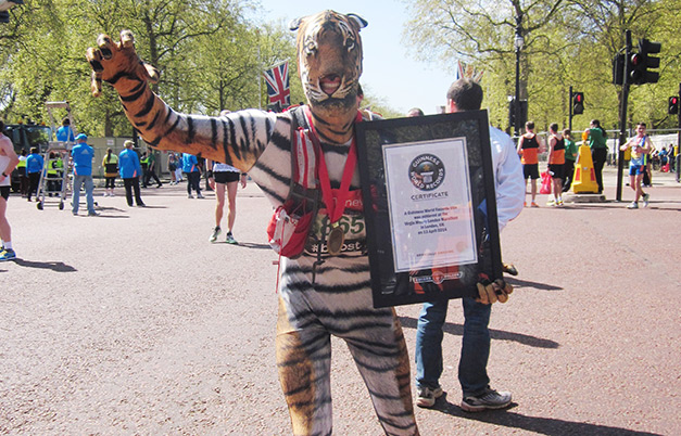 Fastest marathon in an animal costume (male)