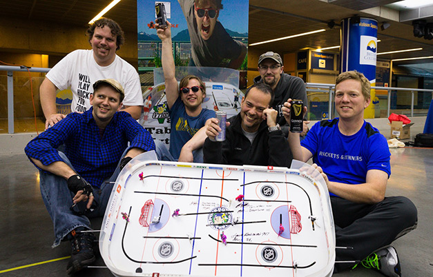 Longest marathon playing table hockey