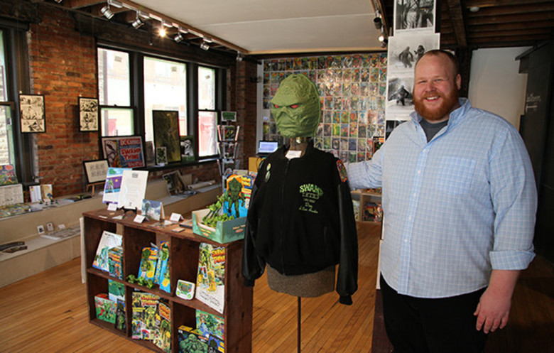 Largest collection of Swamp Thing memorabilia