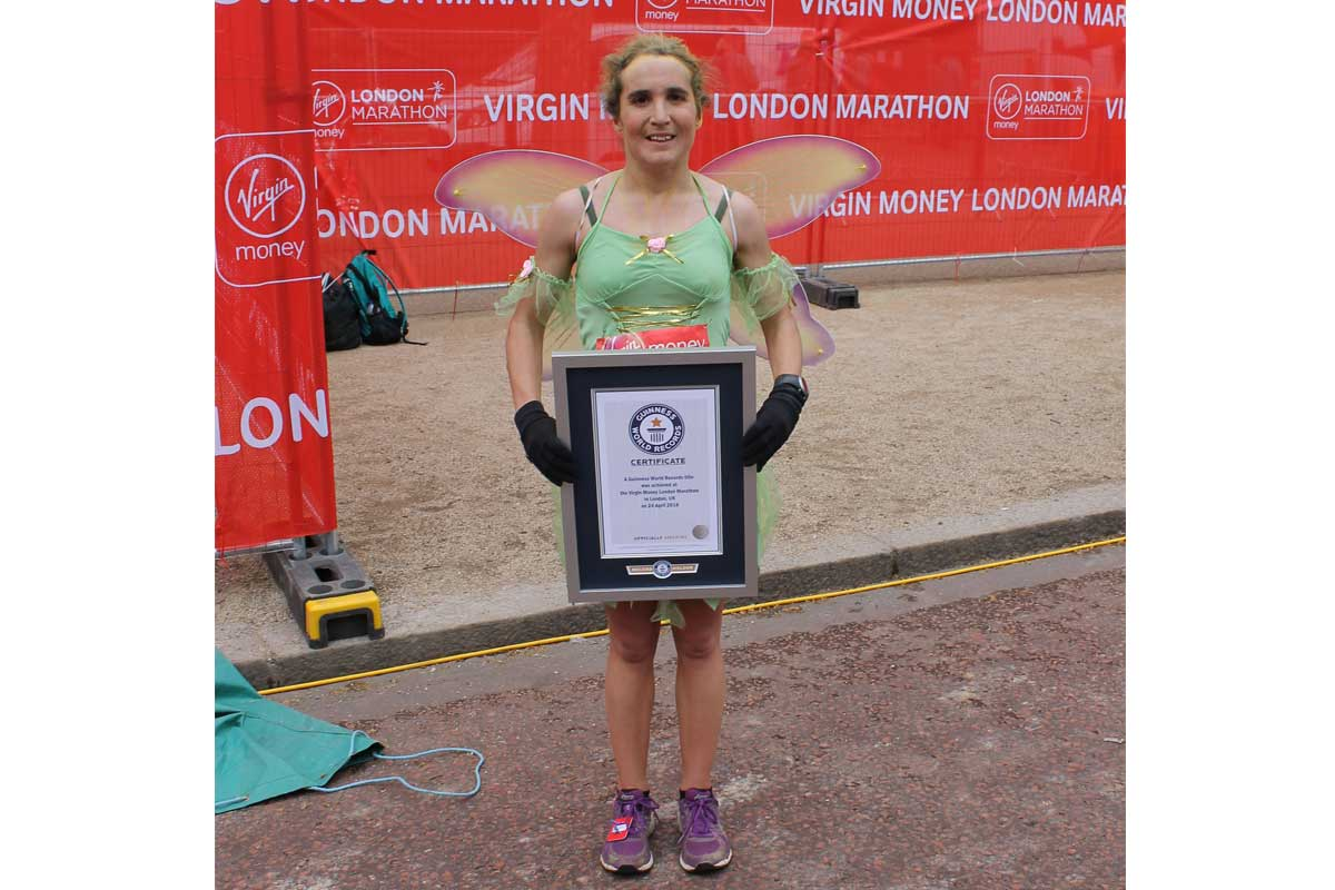 Fastest marathon dressed as a book character (female)