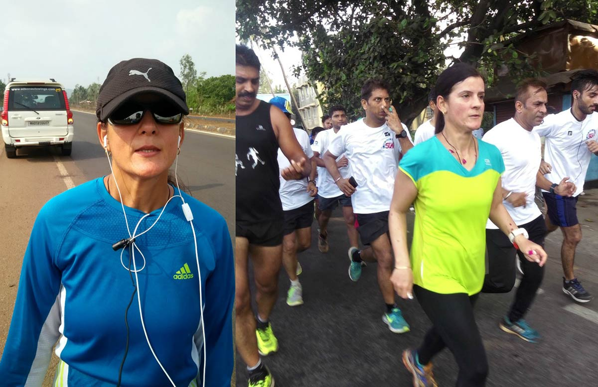Fastest time to travel the Indian Golden Quadrilateral on foot (female)