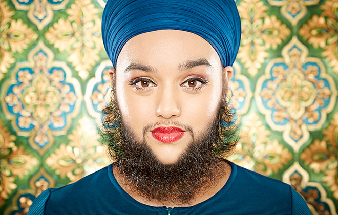 Youngest female with a full beard