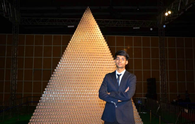 Largest plastic cup pyramid