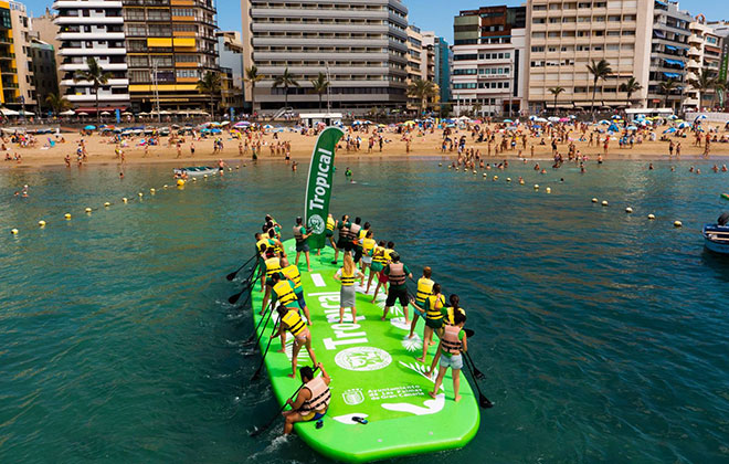 Largest stand up paddle surfing (SUP) board