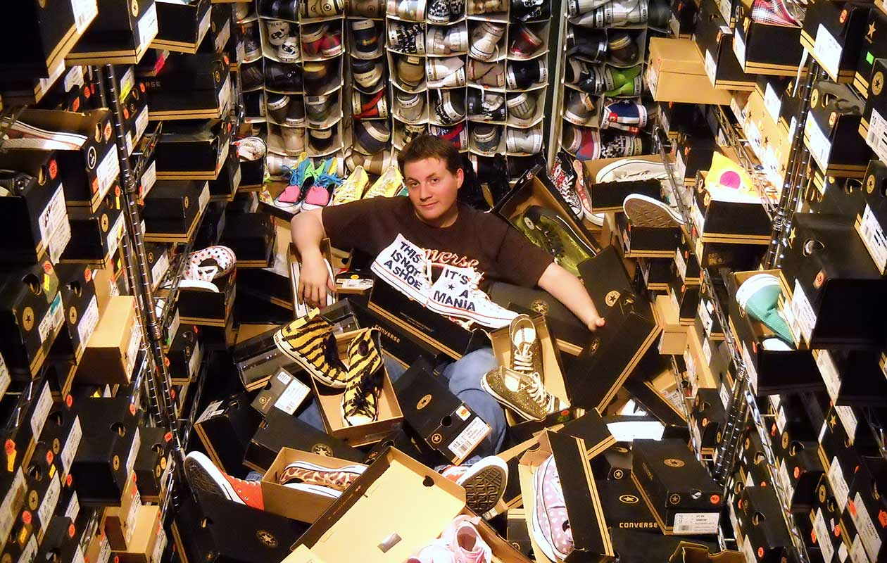 Largest collection of Converse shoes