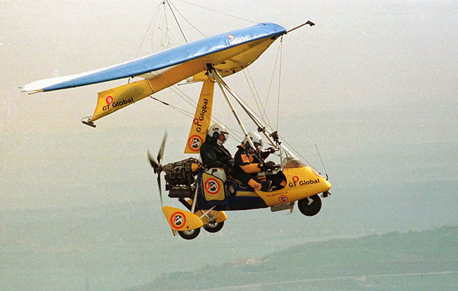 First circumnavigation by microlight