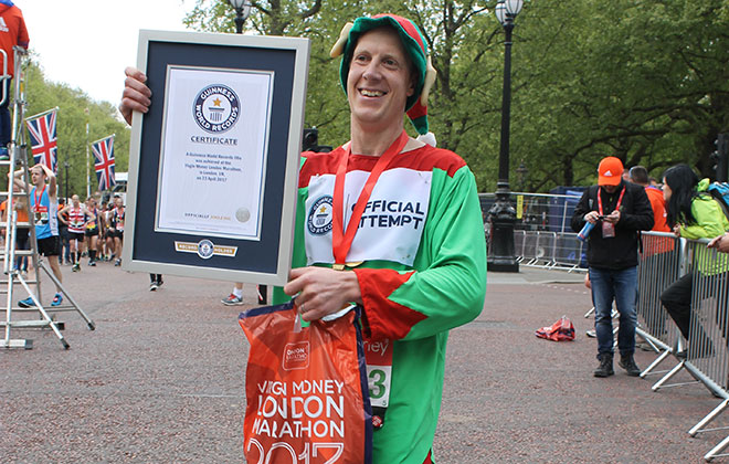Fastest marathon dressed as an elf (male)
