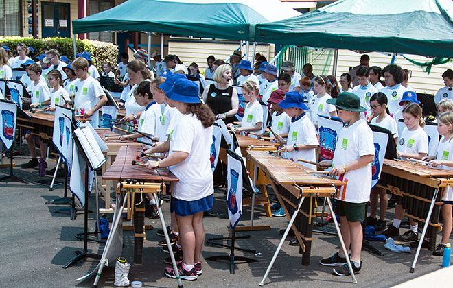 Largest marimba ensemble