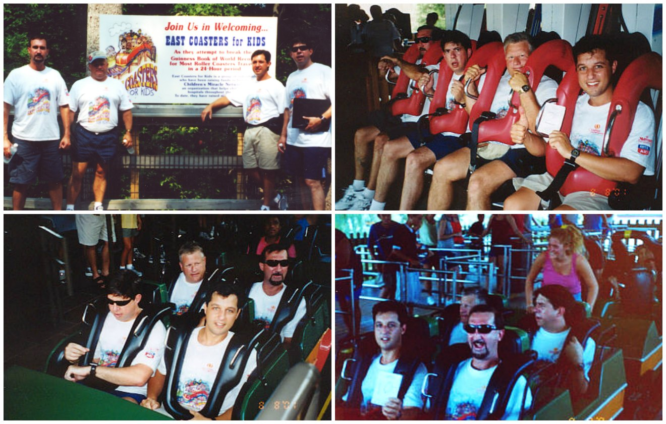 Most rollercoasters ridden in 24 hours