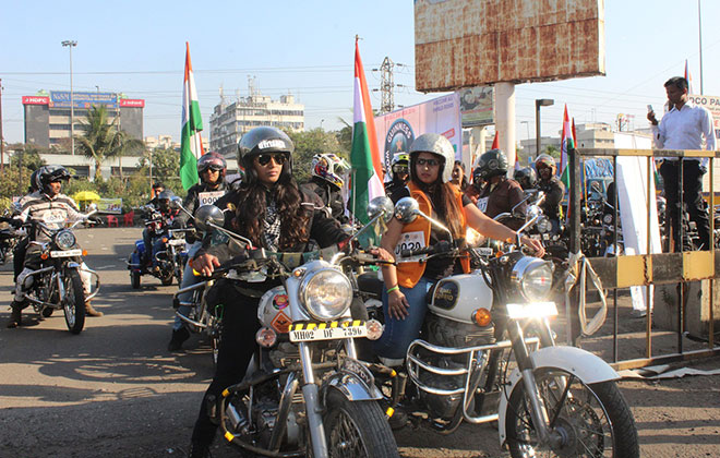 Largest parade of Royal Enfield motorcycles