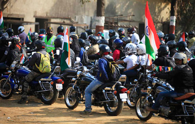 Largest parade of Bajaj motorcycles
