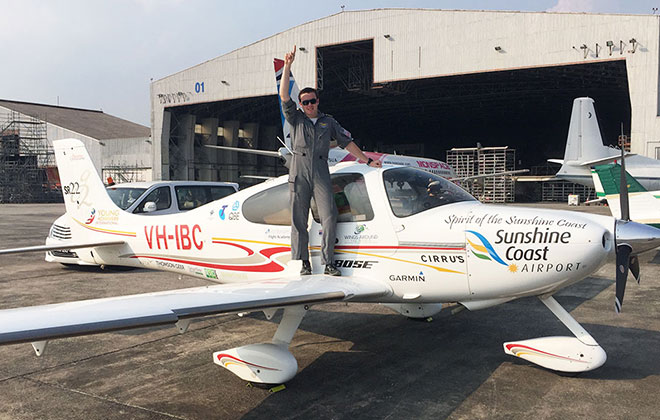 Youngest person to circumnavigate by aircraft, solo