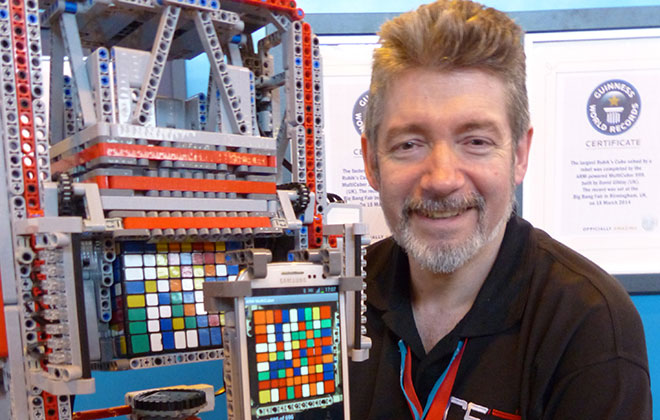Largest Rubik's cube solved by a robot