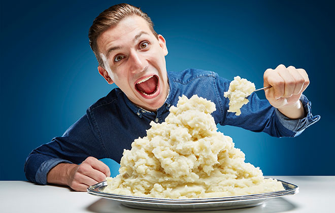 Most mashed potato eaten in 30 seconds