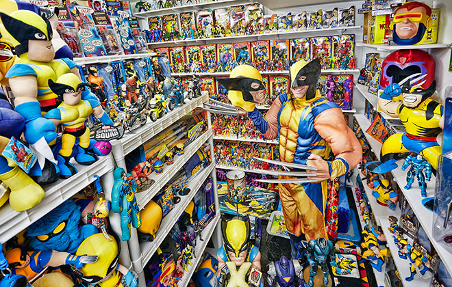 Largest collection of X-Men memorabilia