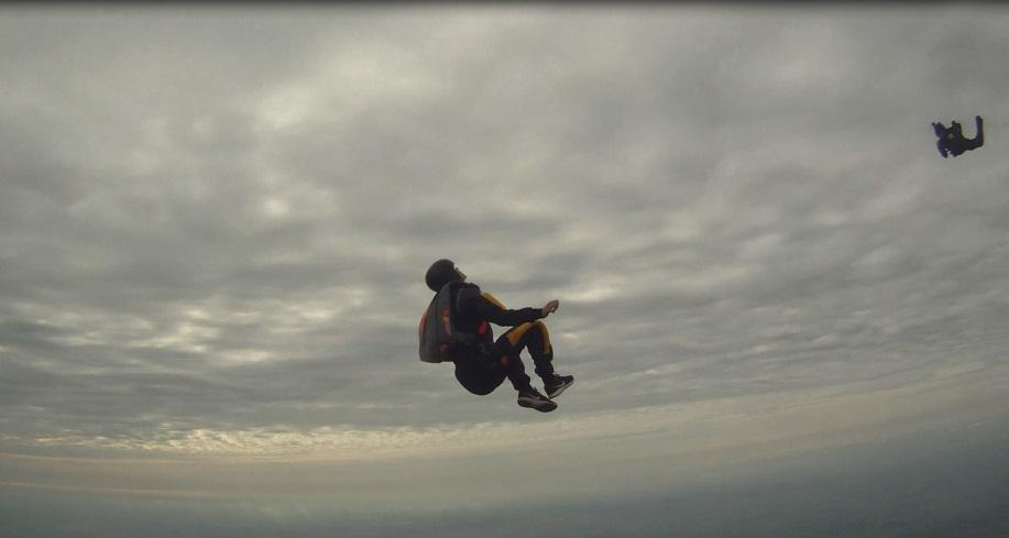 Most backwards somersaults in a sky dive