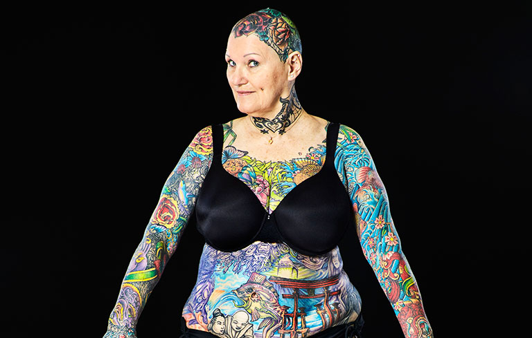 Most tattooed senior citizen (female)