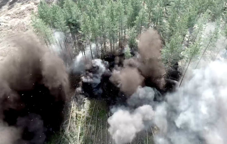Most high explosives detonated in a single film take