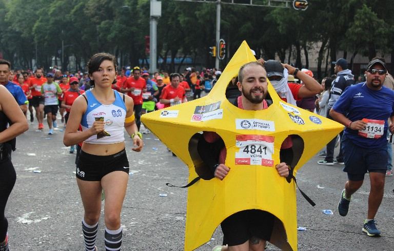 Fastest marathon dressed as a star
