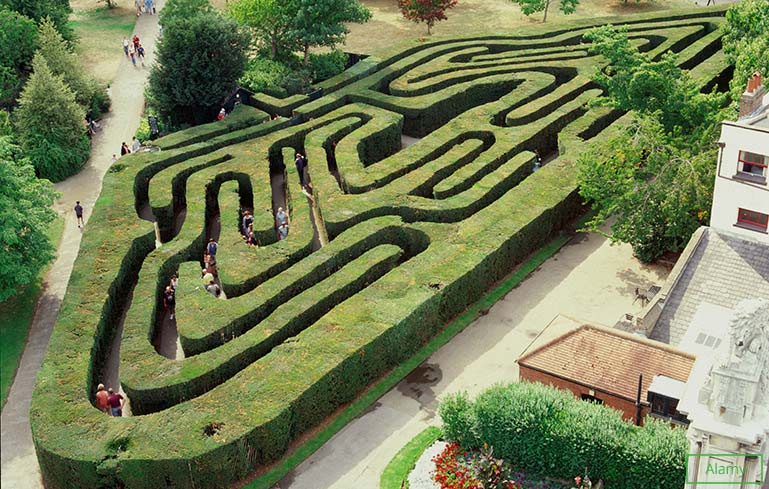 Oldest hedge maze