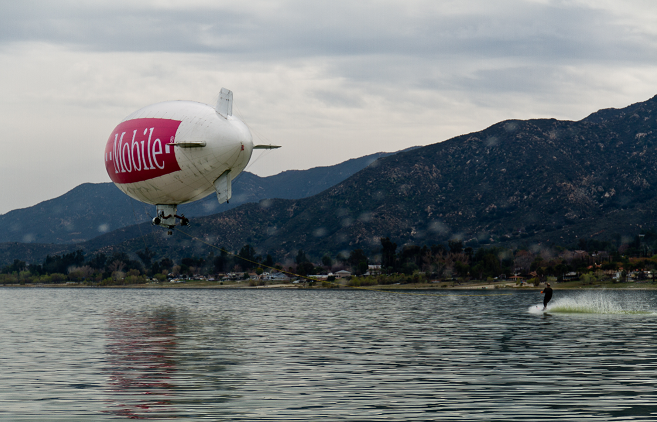 Greatest distance water skied while towed by a blimp