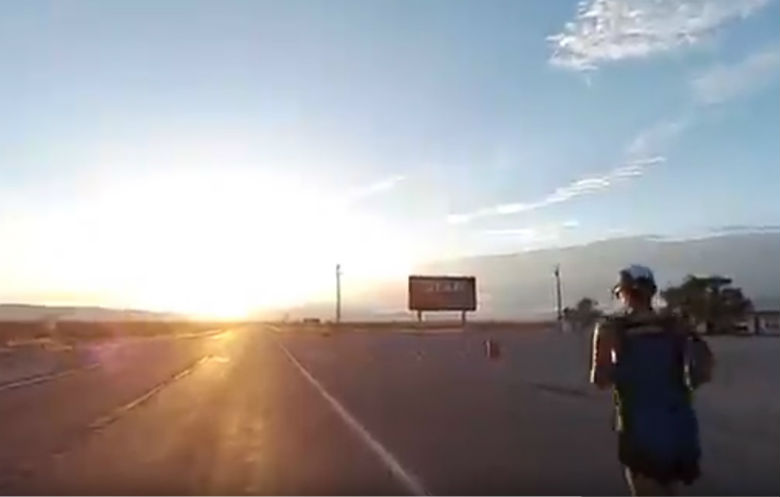 Fastest crossing of America (USA) on foot (male)