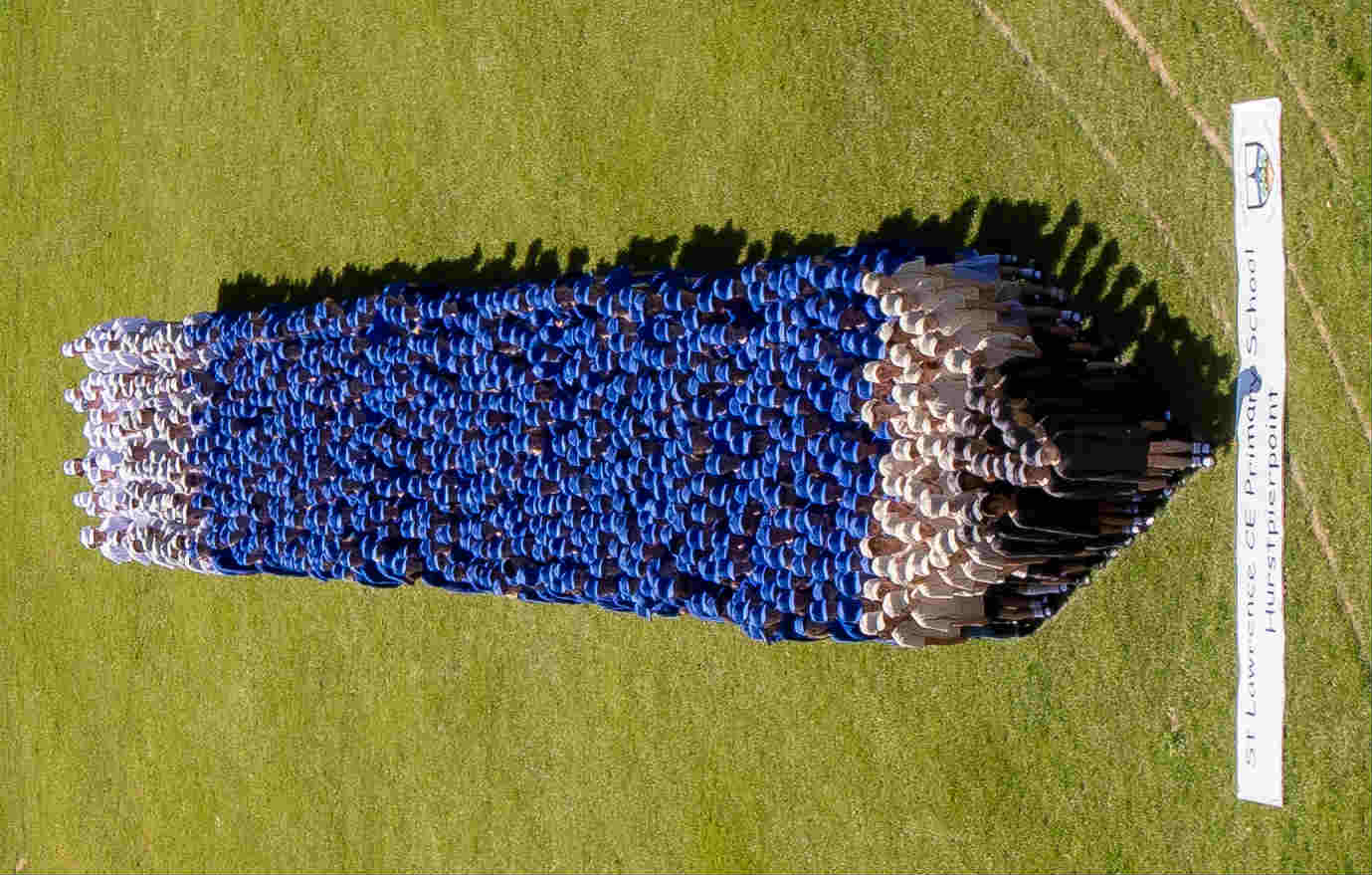 Largest human image of a pencil