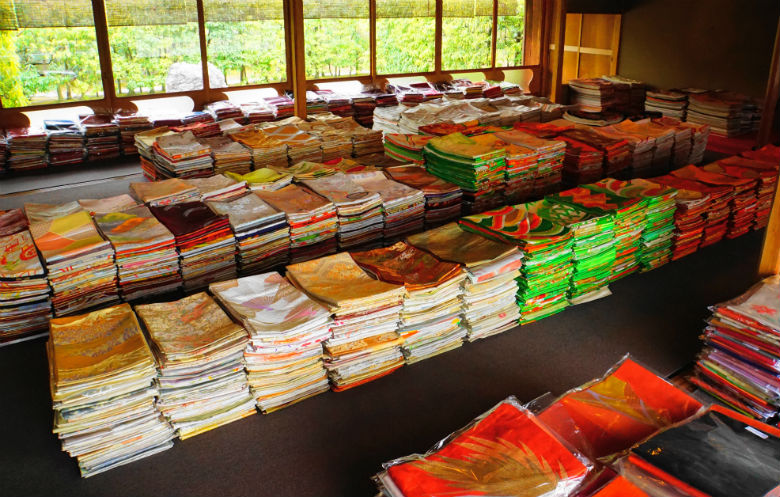 Largest collection of obi (kimono sashes)