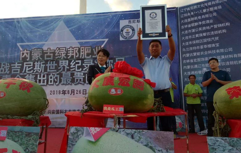 Most expensive watermelon sold at auction