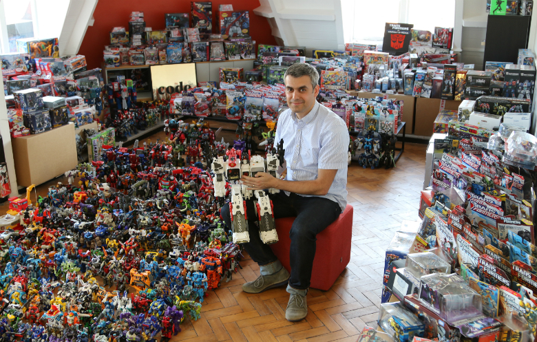 Largest collection of Transformers memorabilia