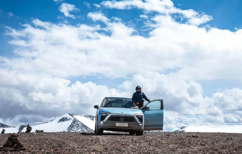 Highest altitude achieved in an electric car