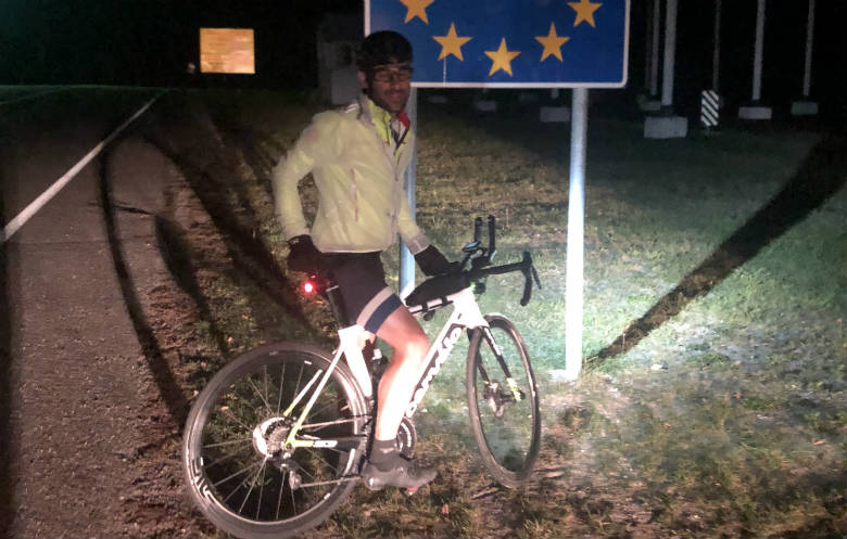Fastest cycle across Europe (Cabo da Roca to Ufa) - individual