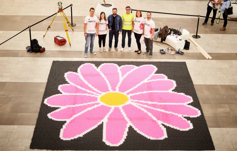 Largest ping pong / table tennis ball mosaic (logo)