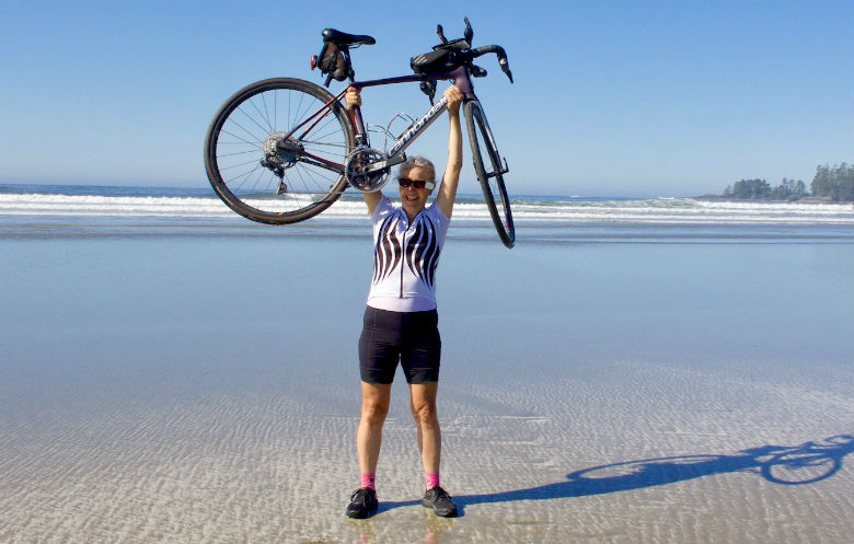 Oldest person to cross Canada by bicycle (female)