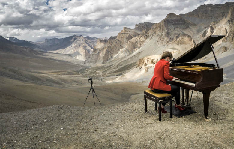 Highest altitude grand piano performance