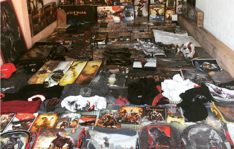 Largest collection of God of War memorabilia