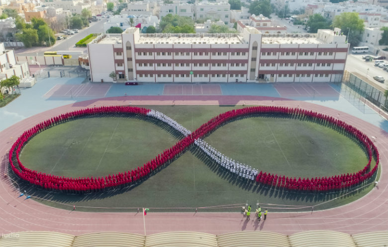 Largest human image of an infinity symbol
