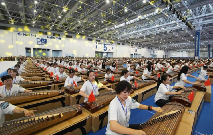 Largest guzheng ensemble