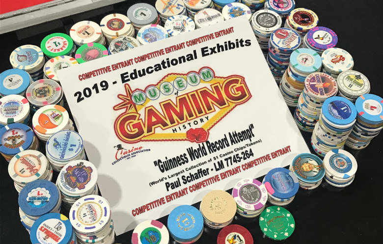 Largest collection of casino chips and tokens