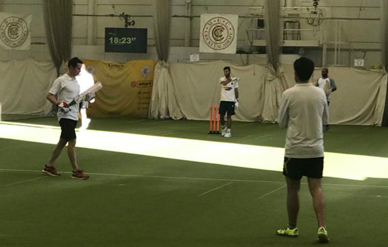Longest marathon playing indoor cricket