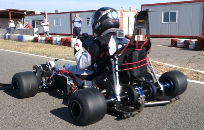 Fastest 0-60 mph acceleration - electric kart (prototype)