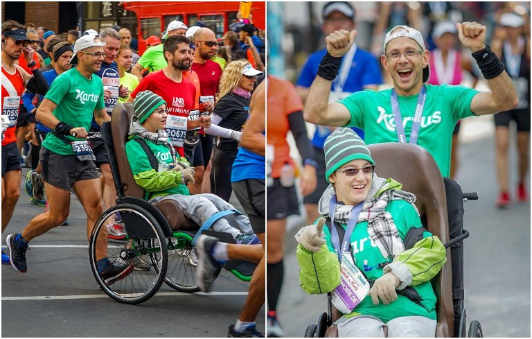 Fastest marathon pushing a wheelchair (male)