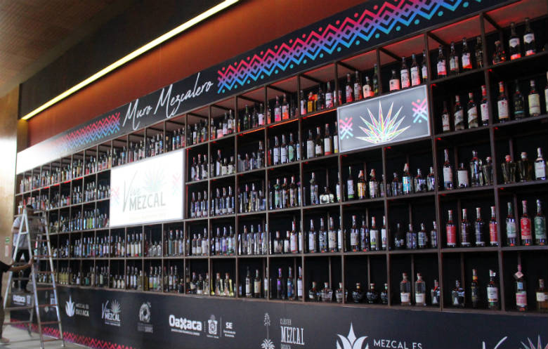 Most different Mezcal bottles on display