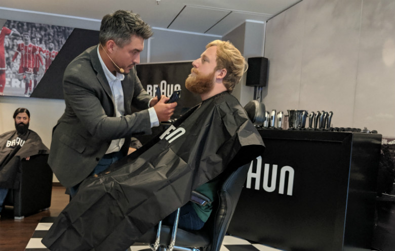 Most beards trimmed in one hour with an electric trimmer (individual)