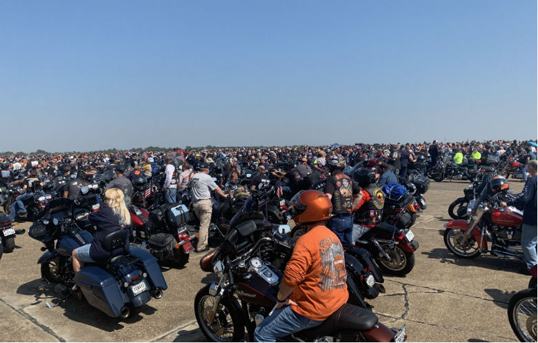 Largest parade of Harley Davidson motorcycles