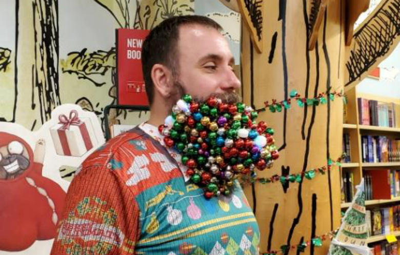 Most baubles in a beard