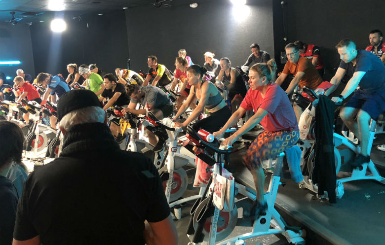 Longest static cycling class